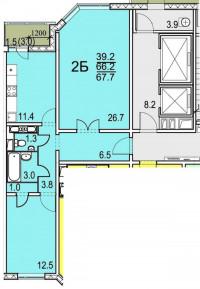 Прoдается двухкомнатная квартира - распашонка на 17 этаже 19- этажного панельног