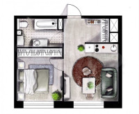 Продается 2-комнатная квартира, 34 кв.м, Беломорская ул.