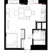 Продается 1-комнатная квартира, 12 кв.м, Профсоюзная ул.