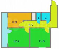 Продается 2-комнатная квартира, 48.8 кв.м, Зеленоград
