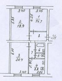 Продается 1-комнатная квартира, 20.4 кв.м, Новолесная ул.