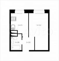 Продается 1-комнатная квартира, 32.5 кв.м, Полярная ул.