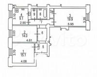 Продается 3-комнатная квартира, 76.6 кв.м, пр-т Мира