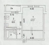 Продается 1-комнатная квартира, 38.3 кв.м, Зеленоград