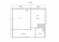 Продается 1-комнатная квартира, 43.4 кв.м, квартал Южный