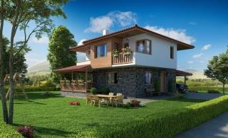 Новые двухэтажные дома  в Банево