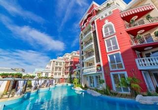 Квартиры в Болгарии возле пляжа в курорте Солнечный Берег. Двухкомнатная квартира