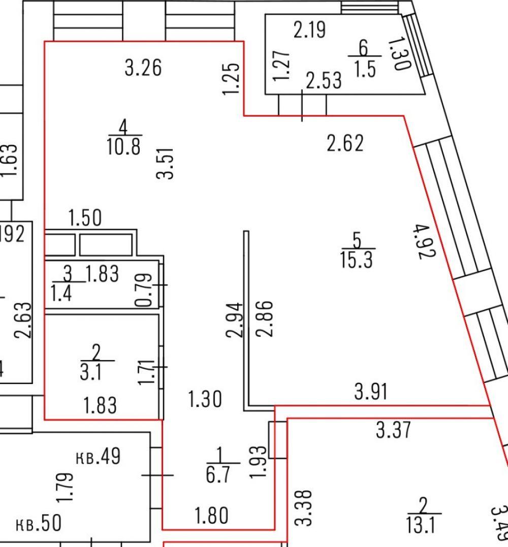 1-комнатная квартира г.Королев ул.Первомайская д.47 мкр.Первомайский, фото 20
