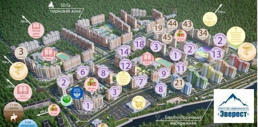 Продажа двухкомнатная квартира Московская область Щелковский район п.Свердловский ЖК Лукино-Варино, фото 3