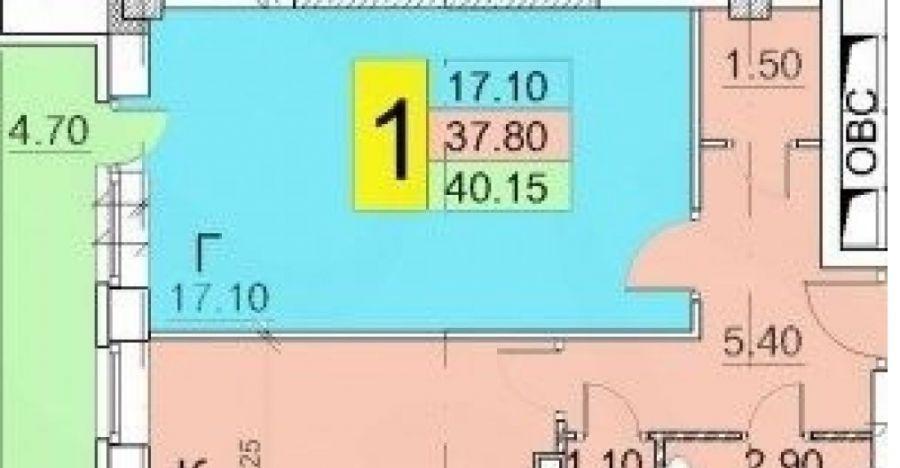 1-комнатная квартира г.Щелково ЖК Вега ул.Радиоцентр 5, д.17, фото 2