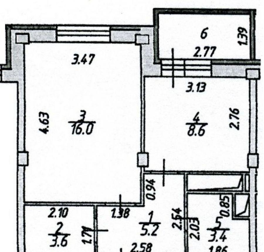 1-комнатная квартира поселок Свердловский ул. Заречная дом 11, фото 15