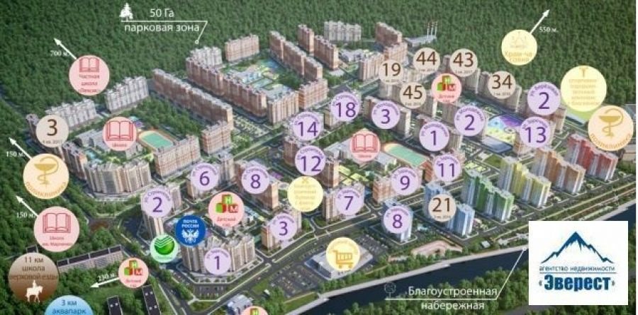 Продажа однокомнатная квартира Московская область п.Свердловский ЖК Лукино-Варино ул. Строителей д.12., фото 4