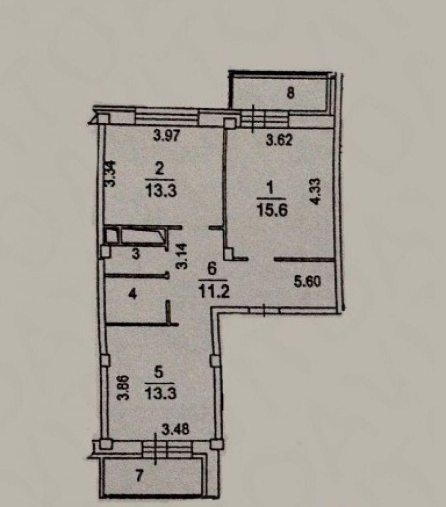 Продажа двухкомнатная квартира Московская область Щелковский район п.Свердловский ЖК Лукино-Варино, фото 5