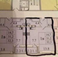1-комнатная квартира п.Свердловский ЖК Лукино-Варино ул.Заречная д.13