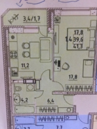 1-комнатная квартира поселок Свердловский ЖК Лукино-Варино ул.Молодежная д.4