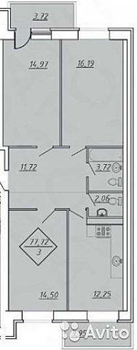 Продается 3 комнатная квартира в новом микрорайоне ЖК