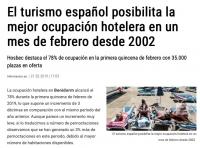 Занятость отелей в Бенидорме