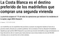 Жители Мадрида предпочитают покупать жилье на Коста Бланка !