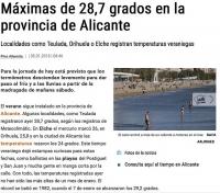 Провинция Аликанте продолжает ставить температурные рекорды зимы !