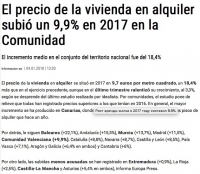 Стоимость аренды жилой недвижимости выросла в 2017 на 9.9% в комунидаде Валенсия, в том числе в Аликанте.
