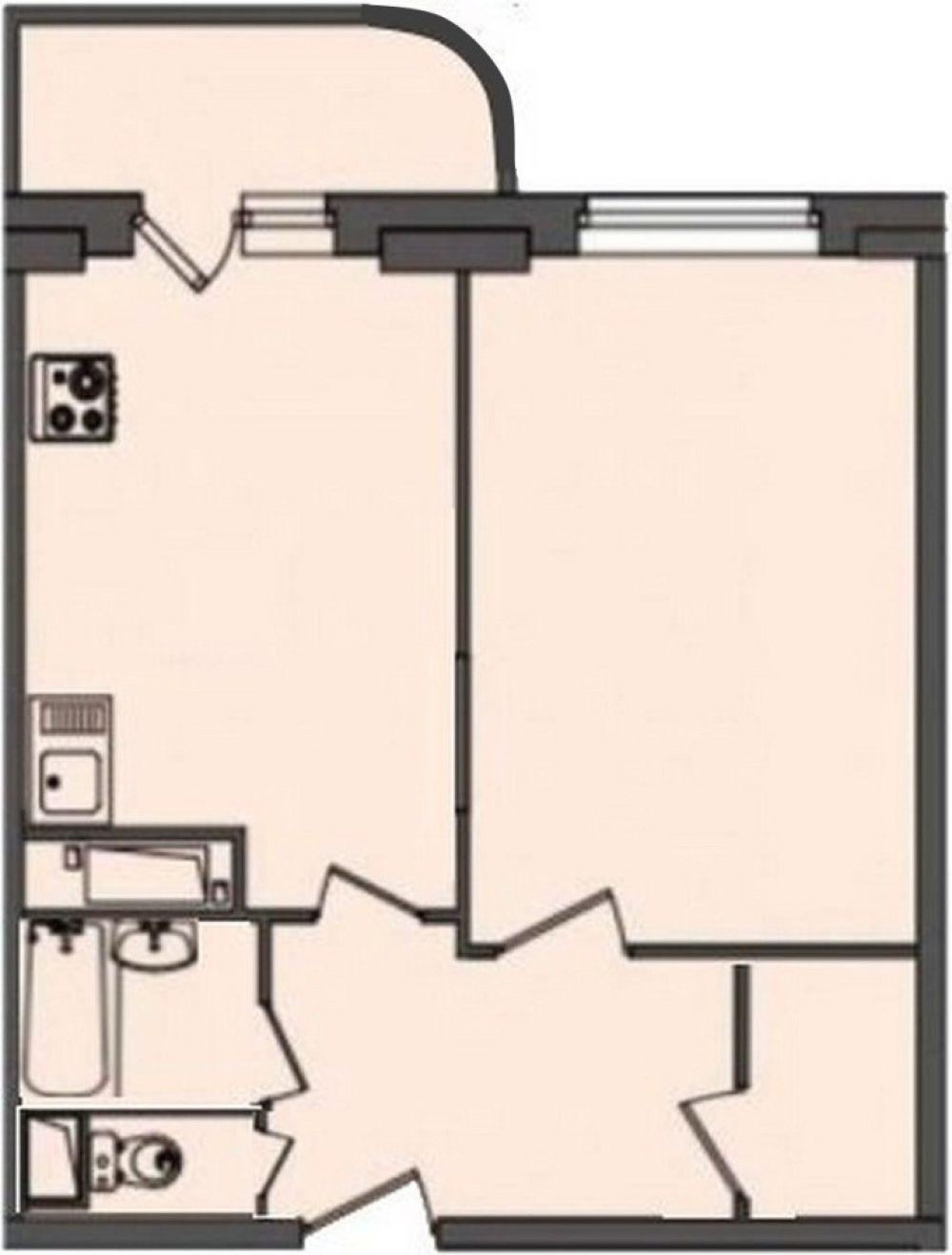 Однокомнатная квартира улучшенной планировки 47.6 м2, г. Щелково, Богородский мкр,10, фото 1