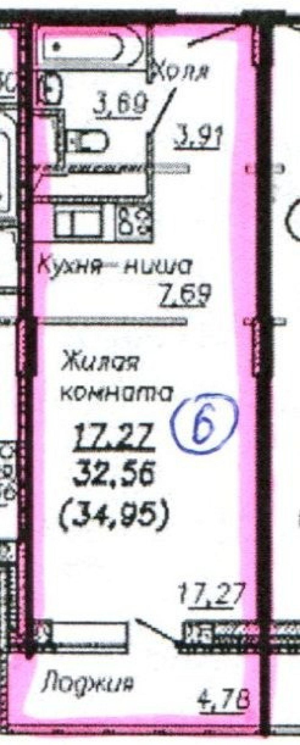1-к квартира, Щёлково, микрорайон Потаповский, 1к1, фото 13