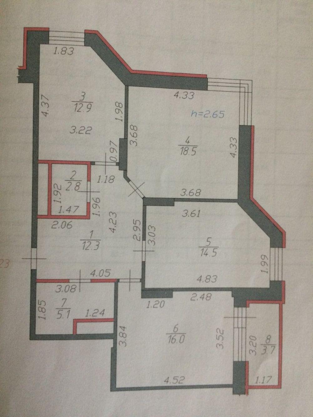 3-к квартира, Щелково, улица Шмидта, 6, фото 1