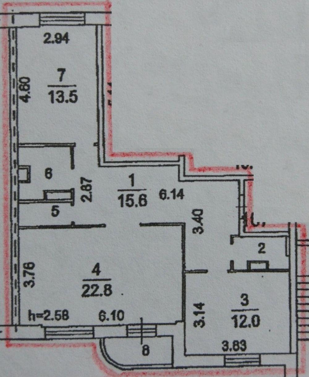 2-к квартира, Щёлково, Богородский, 10к1, фото 1