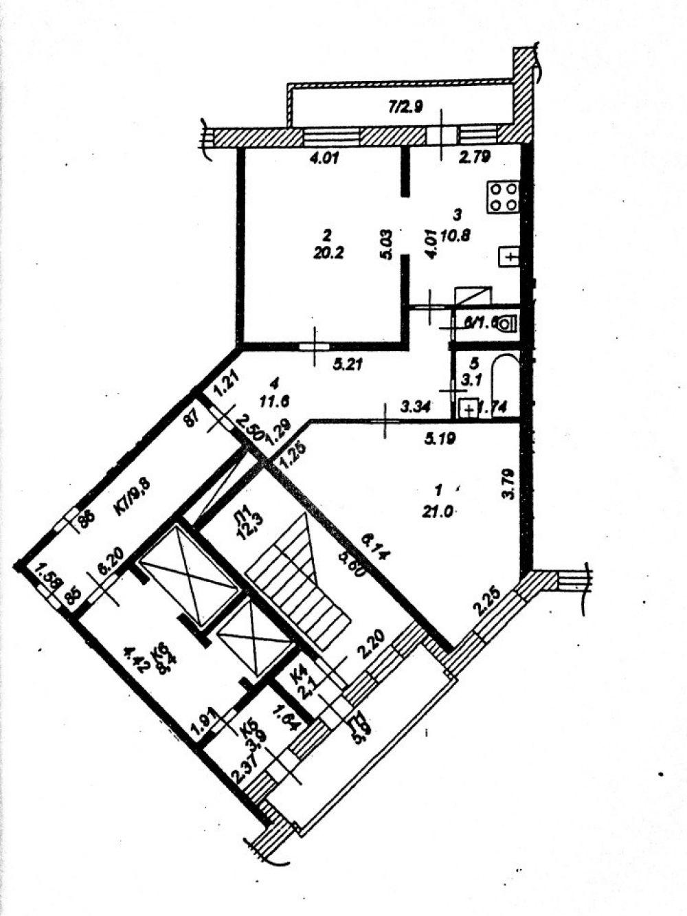 2-к квартира, Ивантеевка, ул Трудовая, 7, фото 17
