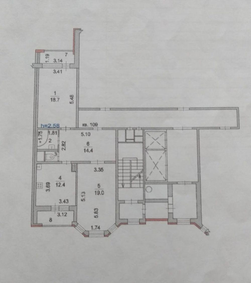 2-к квартира, г. Щелково, мкр. Финский, 9к1, фото 12