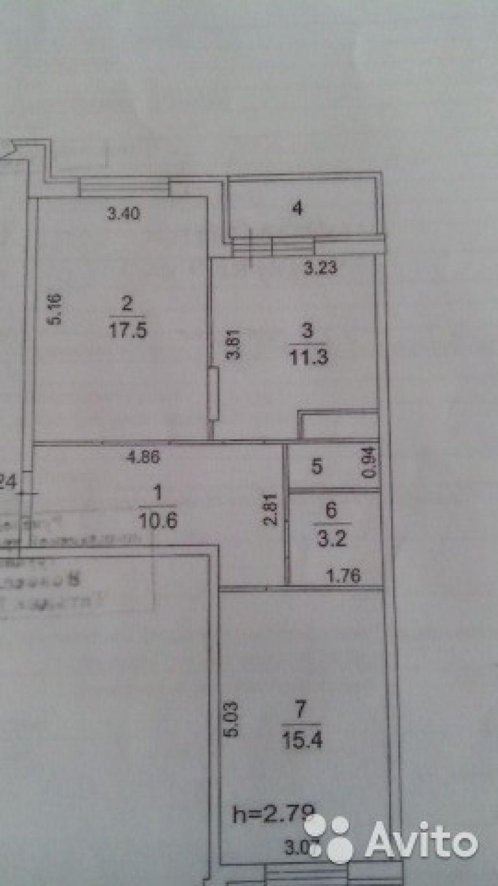 Двухкомнатная квартира  60 м2, микрорайон Богородский 6, фото 19