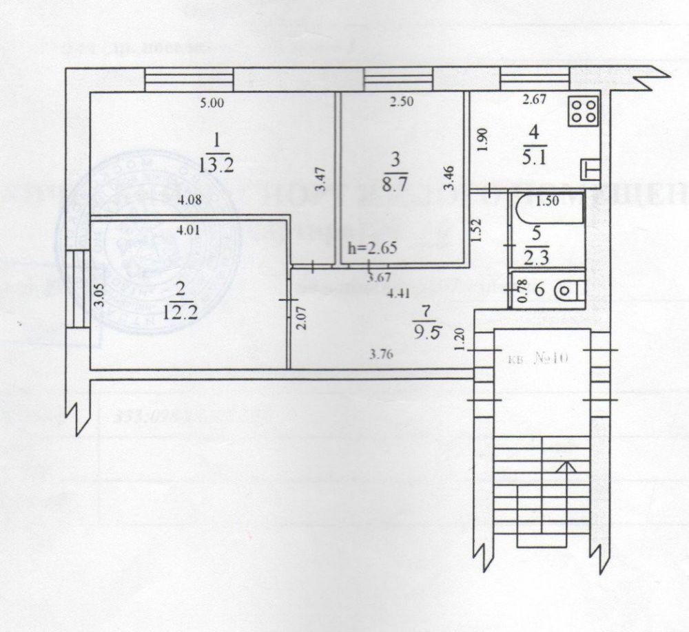 3-к квартира, Щёлково, Плеханова дом 10, фото 17