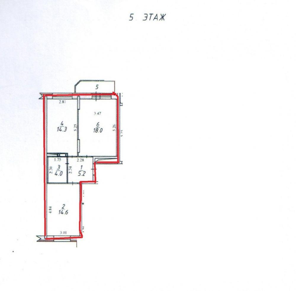 2-к квартира, п. Свердловский, Заречная 13, фото 2