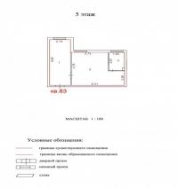 Продаётся 1 ком. квартира, Чехов г, ул. Гарнаева ул, 20, 39м2 - ID 10002853