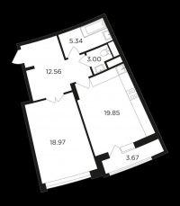 Продажа 2-х комнатная квартира 61,5 кв.м. Вавилова 69А